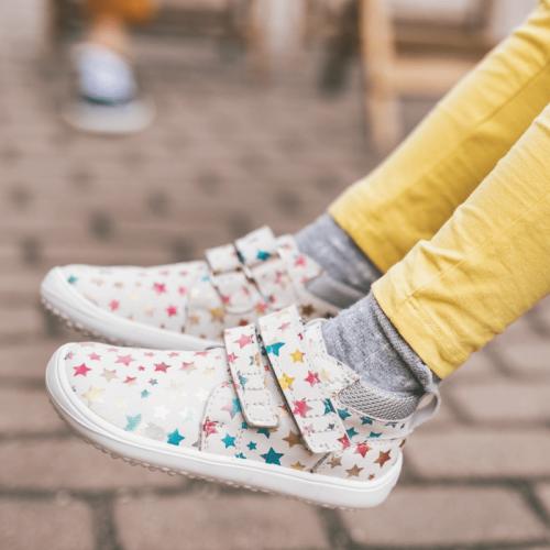 Детски боси обувки Be Lenka Play - звездички