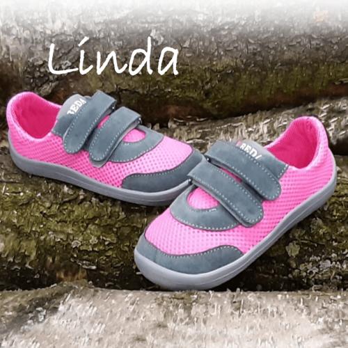 Детски боси  обувки Beda, кожа/меш - Линда