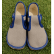 Beda детски боси пантофи Slim - сиво/синьо