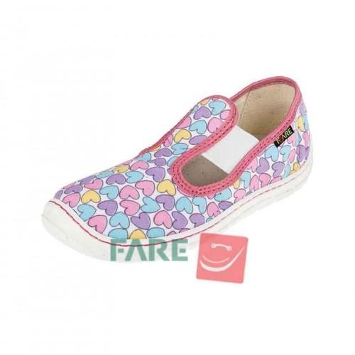 Fare Bare, боси леки обувки с ластик, сърца