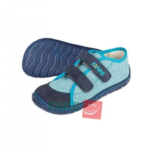 Fare Bare детски боси обувки с велкро, синьо