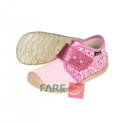 Fare Bare, детски боси обувки за прохождане, розово