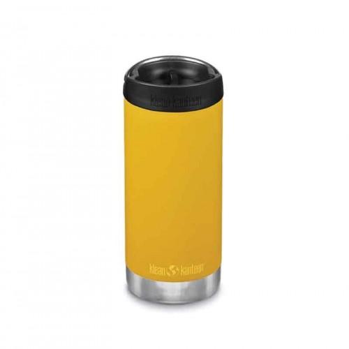 Термо бутилка Klean Kanteen TKWide 4в1, cafe cap, жълто