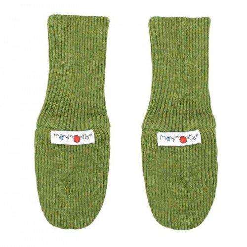 Вълнени ръкавици без пръсти ManyMonths  - Garden moss green